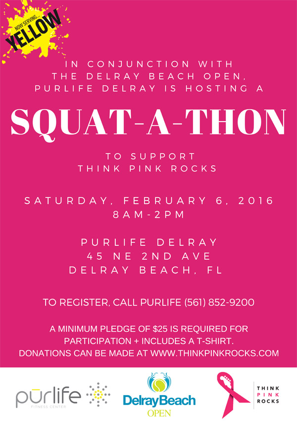 Join The Delray Beach OPen and PURlife delray at out first annua